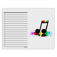 Paint Music Note To Do Shopping List Dry Erase Board