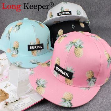 Pineapple Fruit Hat Ladies Snapback Cap Men Women