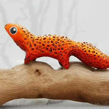 Leopard Gecko Lizard Salamander Animal Totem Figurine Fantasy Animal Reptile Creature Art Sculpture Magic Gift