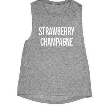 Strawberry Champagne unisex Muscle Tank
