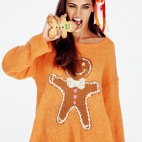 GINGERBREAD MAN ROADIE SWEATER
