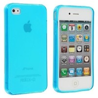 Frost Light Blue TPU Rubber Skin Case Cover for Apple iPhone 4 4G 4S:Amazon:Cell Phones & Accessories