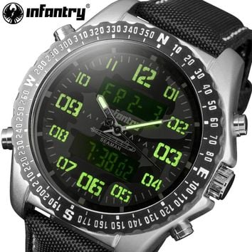 INFANTRY Watches Men Camo Style Chronograph Aviator Military Quartz-watch Nylon Strap Wristwatch Relogio Masculino Dropshipping