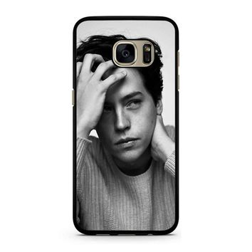 Cole Sprouse Riverdale Jughead Jones Black White Samsung Galaxy S7 Case