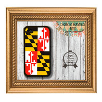 Maryland State Flag iPhone Case, Hard Plastic iPhone Case, Fits iPhone 4, iPhone 4s & iPhone 5