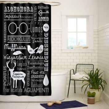 Best Harry Potter Spells High Quality Custom Shower Curtain 60x72 Inch