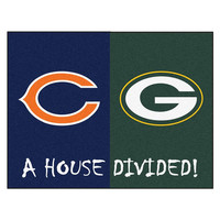 Chicago Bears - Green Bay Packers House Divided NFL All-Star Floor Mat (34x45)