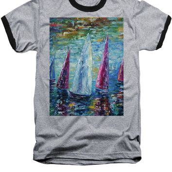 Sails To-night - Baseball T-Shirt