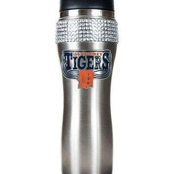 DCCKG8Q MLB Detroit Tigers Stainless Steel Bling Travel Tumbler