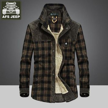 AFS JEEP Shirt Men Winter Shirt