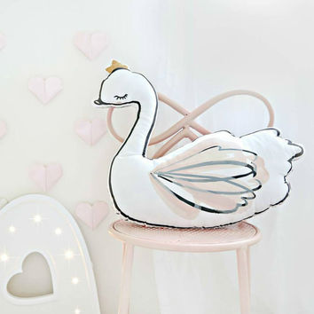 Swan ballerina pillow baby sleep pillow with music room decoration pillows coussin baby oreiller pour enfant Christmas Gift