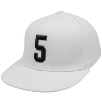 Top of the World Notre Dame Fighting Irish #5 86-Fitted Hat - White