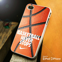 Basketball never stop on ball iPhone 4 5 5c 6 Plus Case, Samsung Galaxy S3 S4 S5 Note 3 4 Case, iPod 4 5 Case, HtC One M7 M8 and Nexus Case