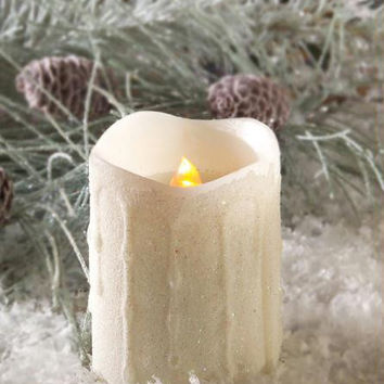 """6 Flameless Pillar Candles - Set Timers For 4 Or 8 Hours  """" Burn """"  Time.once Set, Cycles Automatically Repeat Daily"""
