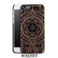 Seven Deadly Sins Walnut Luxury Carved Wood Hard Wooden Protector Back Case Cover for Apple iPhone 5s/SE/6/6 plus&Samsung Galaxy