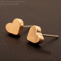 Cool Golden Heart Earrings
