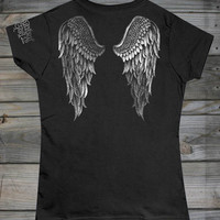 Juniors Angel Wings in Foil Tee