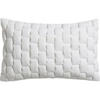 """Mason Quilted White 18""""x12"""" Pillow With Feather-down Insert"""