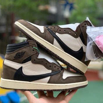 Air Jordan 1 x Travis Scott AJ1  Wonmen  Basketball Sneaker Shoes CD4487_100