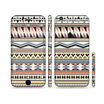 The Tan & Color Aztec Pattern V32 Sectioned Skin Series for the Apple iPhone 6s Plus