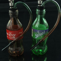 Portable Mini Glass Smoking Pipe - Soda Shape