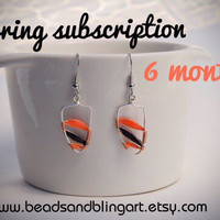 6 month earring subscription, special offer, earring of the month, gifts for her, fashion earrings, monthly subscription, subscription box