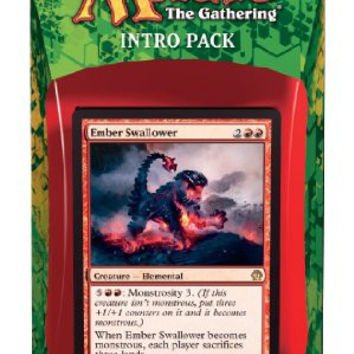 Magic the Gathering (MTG) Theros Intro Pack - Blazing Beasts of Myth Theme Deck (Includes 2 Booster Packs) Red (Ember Swallower)