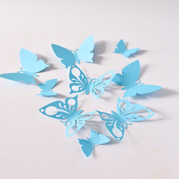 Blue Butterfly Wall Decoration, Birthday Party Decoration