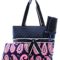 Paisley Diaper Bag - 2 Color Choices