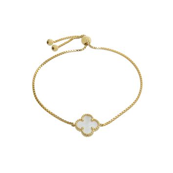 Mother of Pearl Clover Bracelet