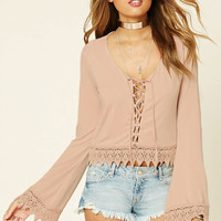 Crochet Lace-Up Top