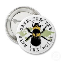 Yoga Speak : Save the Bee ... Save the World! Pinback Buttons from Zazzle.com