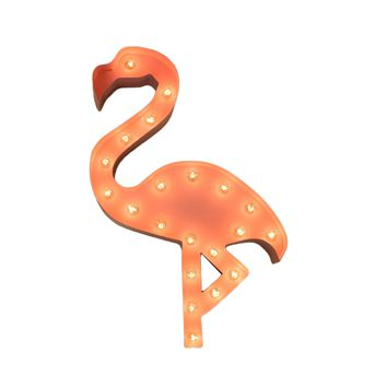 Flamingo Vintage Marquee Lights Sign (Pink Finish)