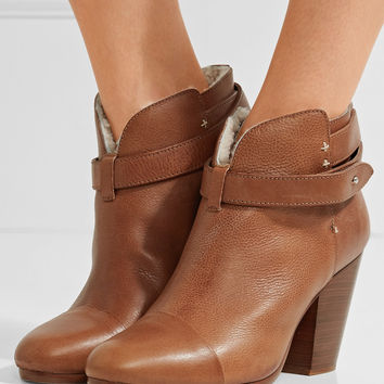 Rag & bone - Harrow shearling-lined leather ankle boots