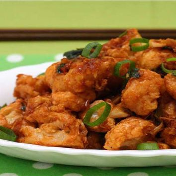 Recipes - Gobi Manchurian (Deep Fried Battered Cauliflower in a tasty Chinese Sauce)