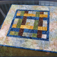 Quilted Table Topper Earthy Batik 707