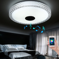 2017 New App Bluetooth Music Led Ceiling Light Smartphone Dimming Discoloration Light Fixture Led Modern Lighting For Bedroom