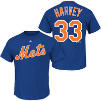 New York Mets Matt Harvey Name & Number T-Shirt by Majestic Athletic