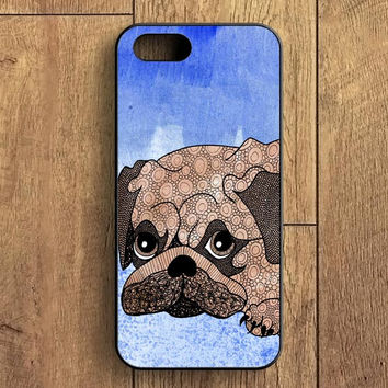 Painting Pug iPhone 5S Case