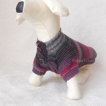 Dog Clothes dachshund Dog Sweater Warm 100% Hand Knitting   clothes medium dog  For Pets