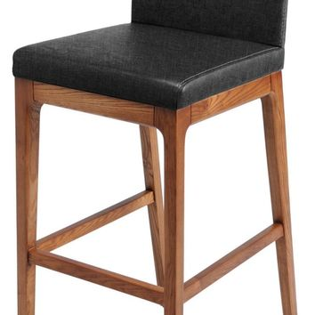 Devon Fabric Bar stool Walnut Legs, Night Shade (Set of 2)