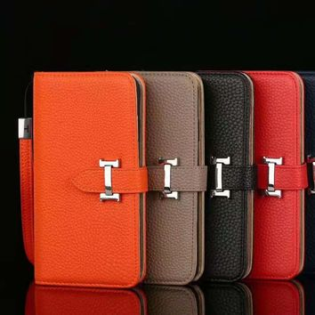 Hermes Leather Fashion iPhone X XR XS XS MAX Phone Cover Case For iphone 6 6s 6plus 6s-plus 7 7plus 8 8plus X