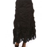 Ruched Long  Skirt - Apostolic Clothing
