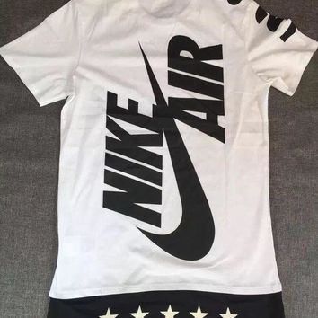 DCCKW2M Nike hit color logo printed sports casual T-shirt men and women