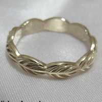Gold Leaves Wedding Band | Vidar Jewelry - Unique Custom Engagement And Wedding Rings