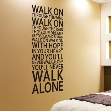 """Famous English family rules/quotes/saying/words """" walk alone"""" home decor fashion waterproof wall stickers ZY8307"""