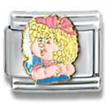 CABBAGE PATCH KIDS Megan Officially Licensed Italian Charm
