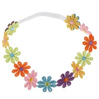 Kids Children Colorful Sunflower Lace Headdress Baby Hair Band