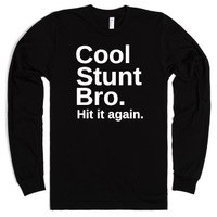 Cool Stunt Bro. (Cheerleading)-Unisex Black T-Shirt