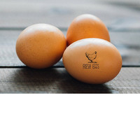 Chicken Egg Stamp - Chicken Stamp - Farm Fresh Eggs Stamp - Farm Eggs Tag - Backyard Chickens - Chicken Coop Stamp - Egg Carton Label Stamp